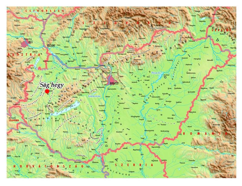 magyarország térkép sárvár A Ság hegy honlapja   Megközelítés, térkép magyarország térkép sárvár